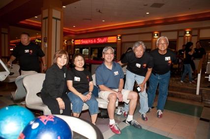 Janice (Muramoto) Chin, Cathy (Hass) Richards, Richard Yamada, Rudy Obrero, and Greg Tsuda.