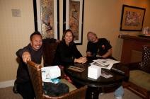 Stanley Reyes, Edwina Lum Moscatelli and Rudy Obrero.