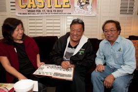 Carol Obrero (Rudy's wife), Clifford Fukuda and Hemingway Yamamoto.