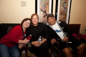 Cynthia Kee, Ella Kuloloia, and Phillip Pai