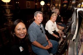 Edwina Lum Moscatelli with Glenn and Kay Iwane