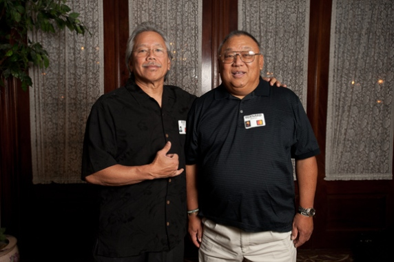 Rudy Obrero with Bernie Imamura (Susan Aoki)