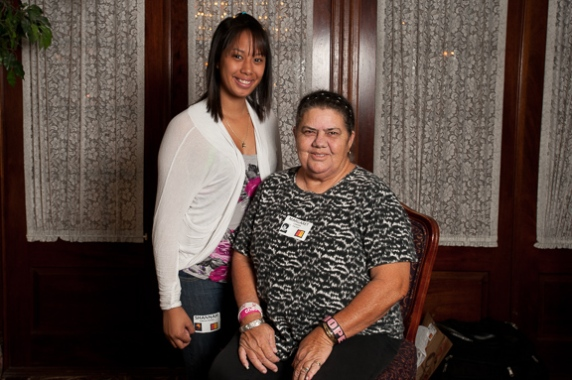 Margaret Camara Pauole and Shannah Garcia Pauole