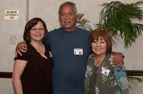 Cynthia Kee and Janice Muramoto Chin with Vincente Gerona.