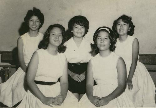 Back: Jeanette Funai, Lavern Teruya Adele Kawasaki. Front: Corine Yokote, Loreen Demello