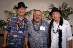 Richard Yamada, Bernie (Susan Aoki) Imamura, Rudy Obrero