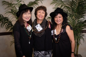 Cynthia Sodetani, Shirley (Bassett) Green and Linda Higa